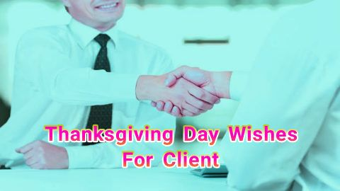 Thanksgiving day wishes to clients